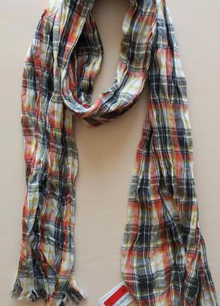 Хлопковый шарф шарфик  унисекс    голландского бренда c&a  сто...