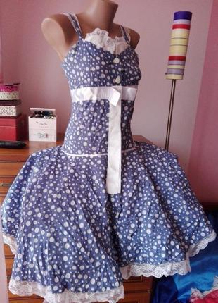 Нереально красивое платье с фатиновым подъюбником в горошек