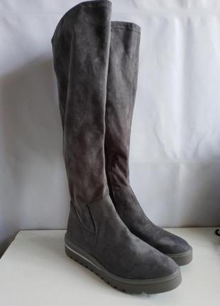 Качественные женские высокие сапоги немецкого бренда tamaris