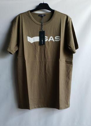 Мужская футболка итальянского premium бренда gas, m