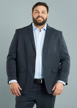 Батал!!!  мужской пиджак regular fit французского бренда kiabi...