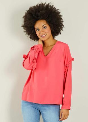 Лёгкая блуза с рюшами французского бренда kiabi , м, европа