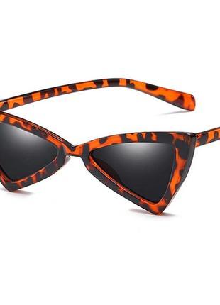 Оригинальные солнцезащитные очки кошачий глаз в тигровом принте