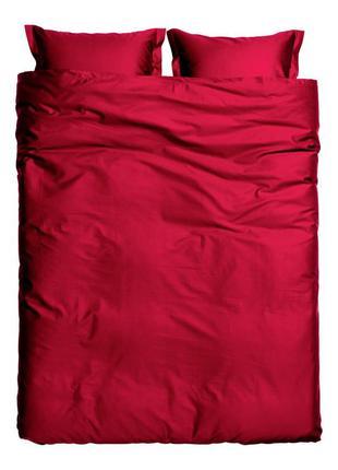 Евро-макси комплект постельного белья из  хлопкового атласа шв...