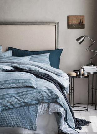 Двуспальное постельное белье с рисунком 200х200 80х80 h&m ориг...