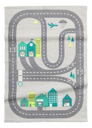 Хлопковый коврик с рисунком 90х130 h&m оригинал европа