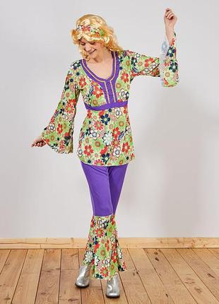Карнавальный костюм хиппи  французского бренда kiabi,  м-l