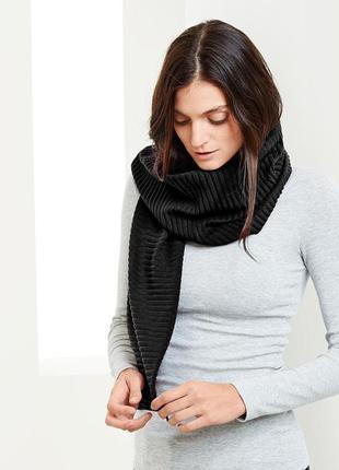 Теплый большой шарф из флиса tcm tchibo германия 180x33см