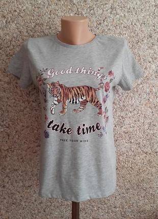Серая футболка, тениска stradivarius ! размер s