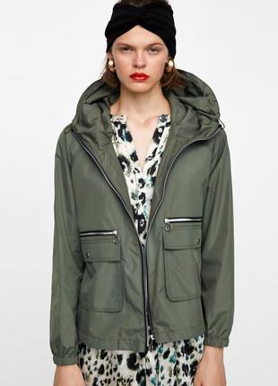 Женская ветровка,куртка-ветровка, курточка zara, размер м
