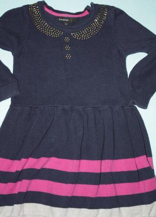 Красивое трикотажное платье для девочки 1,5/2/3года ,идеальное...
