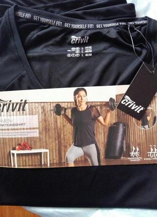 Ультрамодный топ футболка занятий спортом фитнесс crivit черно...