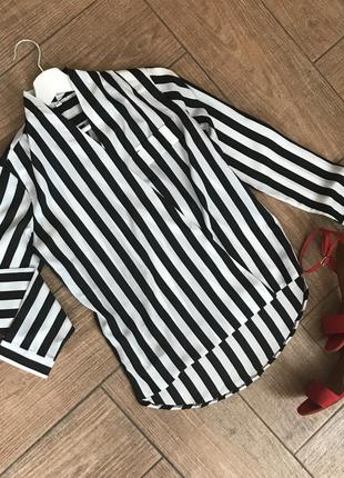 Блуза в полоску/рубашка в полоску на запах!