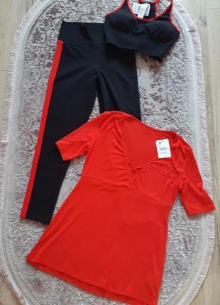 Набор, костюм для фитнеса tezenis, лосины+топ+туника! италия!