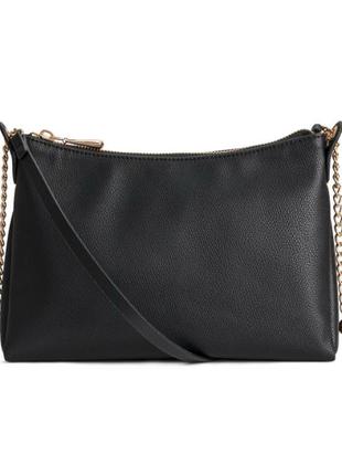 Черная сумочка на длинной ручке с цепочкой от h&m !