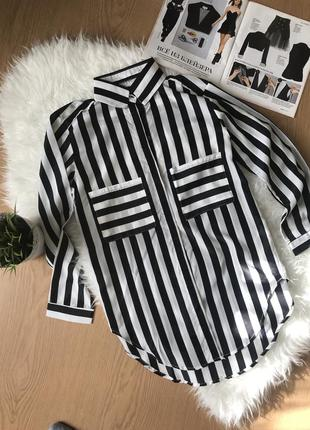Сорочка блуза в полоску. розмір с,м,л