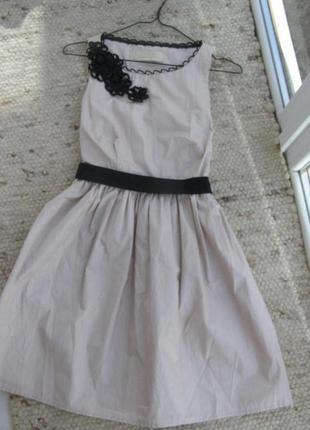 Нарядное хлопковое платье пудра от river island s-размер