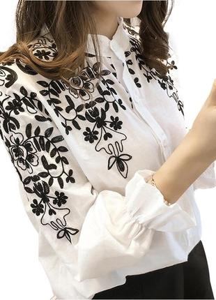 #розвантажуюсь нежная белая блуза с вышивкой