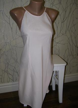 Платье пудра m-l-размер