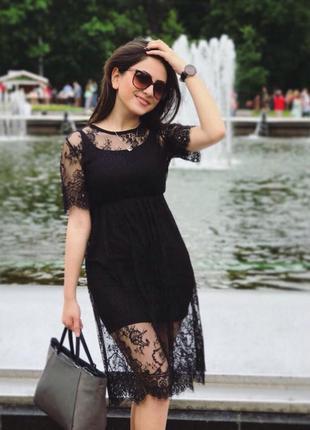 Плаття з кружевом/парео/туніка-плаття