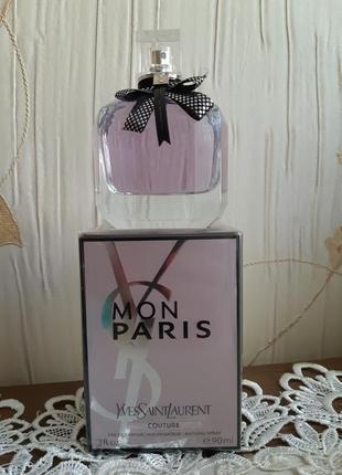 Yves saint laurent mon paris couture парфюмированная вода, 90мл