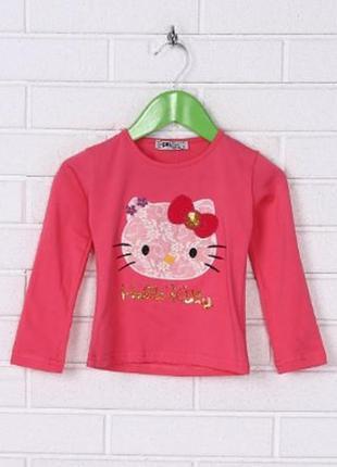 Красивая кофта,реглан,футболка с рукавом для девочки с красочн...