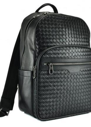 """Рюкзак кожаный мужской для ноутбука 13"""" 14"""" стильный модный ан..."""