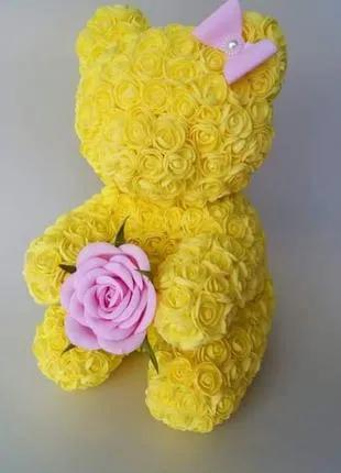 """Сувенир """"Мишка из роз"""""""