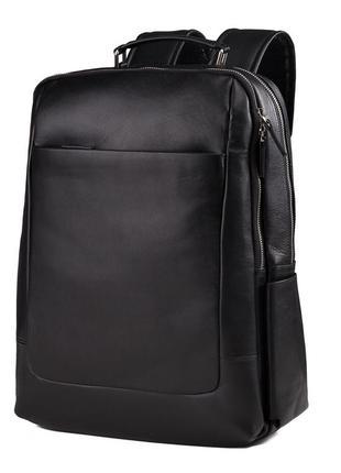 Рюкзак для ноутбука кожаный мужской вместительный стильный casual