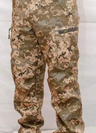 Тактические штаны Софтшелл Пиксель ВСУ ММ-14 ЗСУ Soft Shell брюки