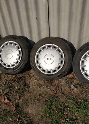 Колеса R15 + зимняя резина Continental 195/55 R15 + колпаки