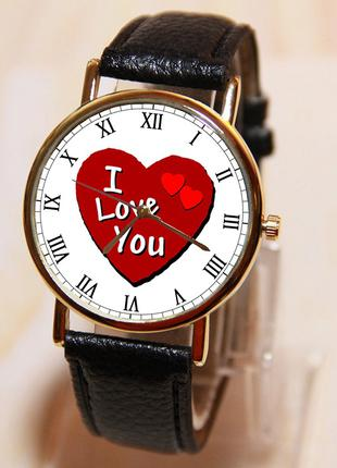Наручные часы любовь, Часы I love you, женские часы