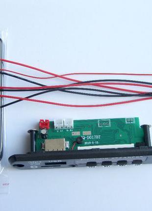 Встраиваемый Bluetooth MP3 модуль с USB microSD FM, плеер с ус...