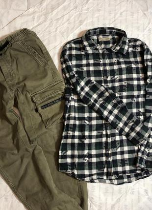Комплект брюки+рубашка zara.