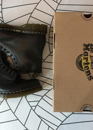 Ботинки dr. martens 1460 black smooth us8, eu41