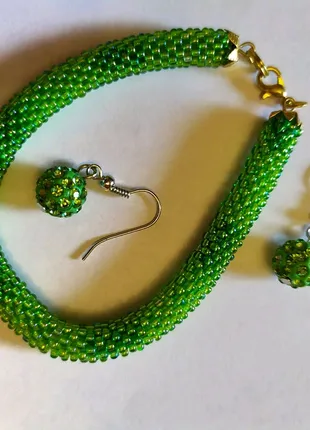 Бижутерия браслет и серьги