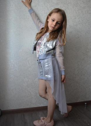 Шикарный нарядный праздничный костюм набор на девочку