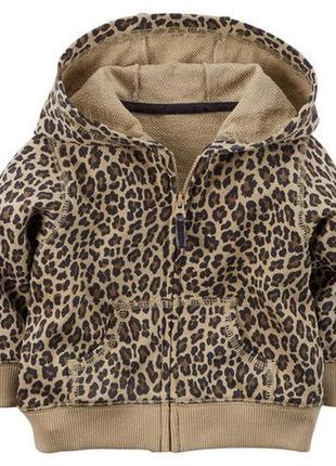 Детская леопардовая кофта на девочку фирмы carters.