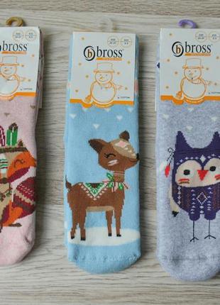Детские махровые носочки на девочку набор из 3-х пар турецкой ...