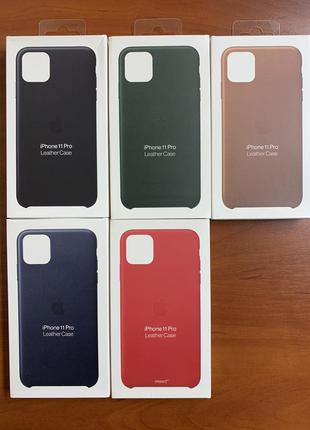 Кожаный чехол Apple Leather Case для iPhone 11 Pro / 11 Pro Max