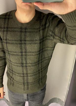 Зелёный свитер в клетку пуловер smog есть размеры
