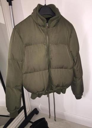 Дутая куртка хаки от topshop