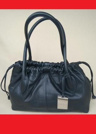 Сумка кожаная черная furla genuine leather оригинал