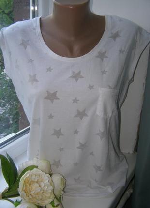 Beachtime футболка со звездами белого цвета на пляж  38-размер