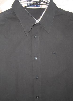 Burberry  мужская рубашка черного цвета 3xl размер. 100% хлопо...