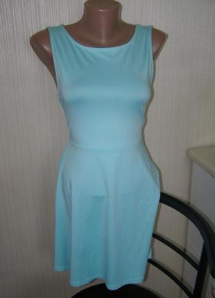 H&m платье цвет мята 38-размер.