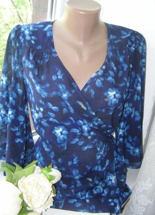 Jigsaw блуза на запах 12-размер 90%шелк 10% еластан