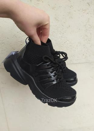 Тренд черные белые кроссовки носки кеды мокасины слипоны сетка