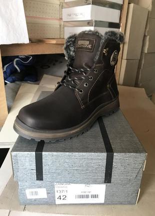 Мужские ботинки кожаные зимние коричневые zangak 137 кор-кр