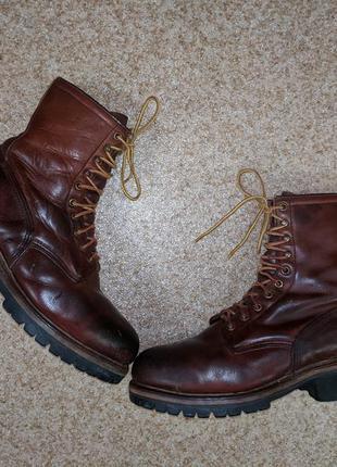 Винтажные рабочие ботинки red wing loggermax logger boots